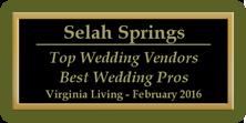 2016 Top Wedding Vendor Award
